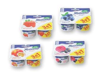Йогурт Живинка 1,5% 115 г*4шт