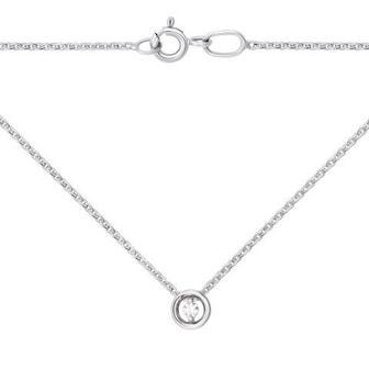 Золотое колье с бриллиантом. Артикул 53974/2.25б