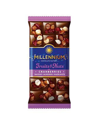 Шоколад Фрукти та горіхи Міленіум 80 г