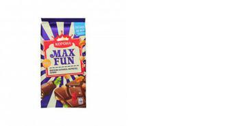 Шоколад молочний мармелад-печиво-карамель, MaxFun, 160г