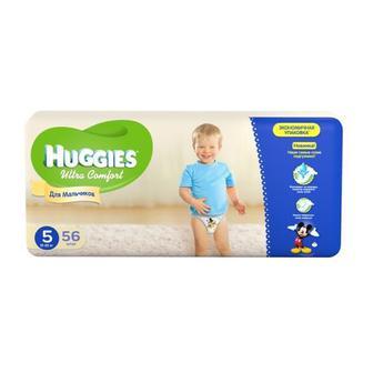Підгузники Huggies Ultra Comfort д/хлопч.5 12-22кг, 56шт,уп