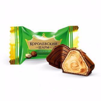 Цукерки Королівський Шарм з горіхом, з шоколадом, вершковий АВК 100г