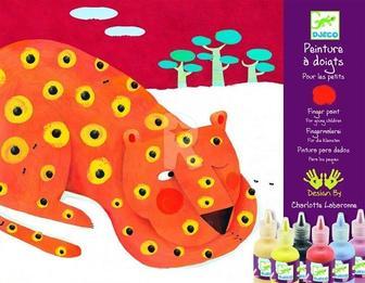 Художественный комплект Пальчиковые краски Djeco (DJ08901)