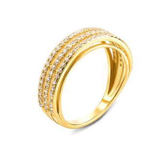 Золотое кольцо с фианитами. Артикул 12162/03/0/1 (12162/eu)
