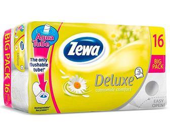 Папір туалетний Zewa Deluxe «Ромашка» 3-шаровий, 16шт./уп