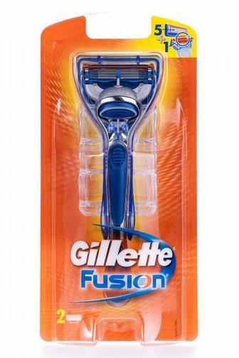 Станок для бритья мужской Gillette Fusionз 2 сменными картриджами