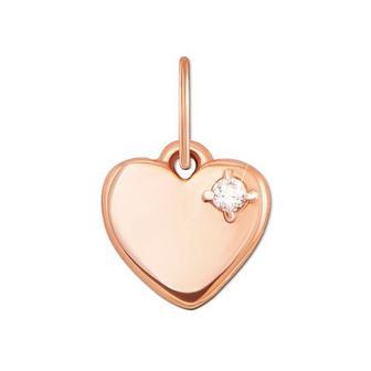 Золота підвіска «Серце» з фіанітом. Артикул 31320/375