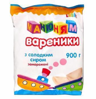 Вареники Манюням з солодким сиром Laska 900г