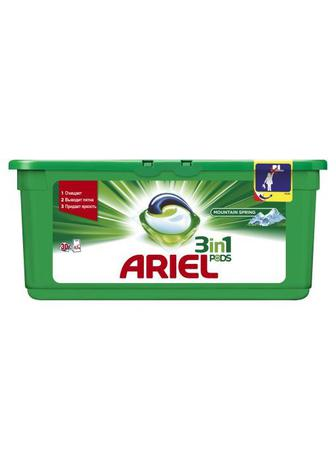 Капсулы для стирки ARIEL Pods 3in1 Mountain spring, 30шт
