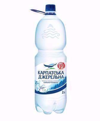 Вода Карпатська Джерельна сильногазированная 2л