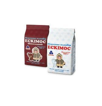Морозиво  Ескімос, Ескімос шоколадний   Рудь 750 г
