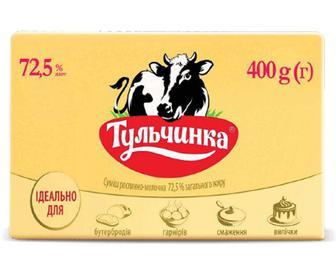 Суміш рослинно-молочна «Тульчинка» 72,5% жиру, 400г