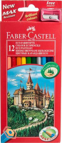 Олівці кольорові 12 шт. з чинкою Faber Castell
