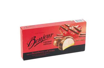 Десерт «Bonjour» Limited Edition смак полуниця з вершками Конті 160 г