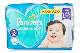 Подгузники PAMPERS Active Baby-Dry р3 5-9кг 74шт
