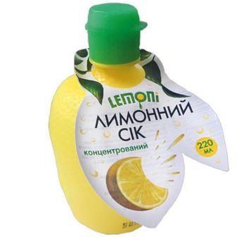 Сік Lemoni лимонний концентрований 220мл