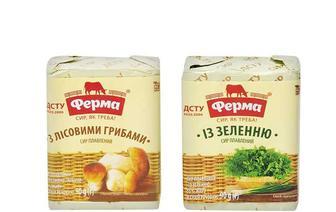 Сир плавлений З лісовими грибами/ Із зеленню, 55% Ферма  90 г