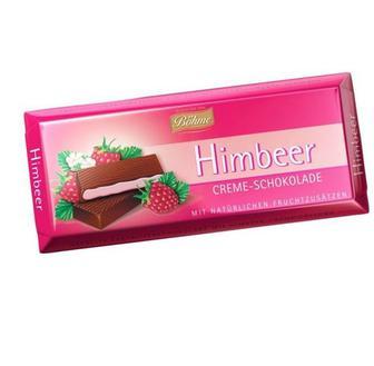 Шоколад  темний  з кремово- малиновою/ м'ятною начинкою  Бьоме, 100 г