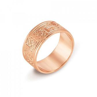 Обручальное кольцо с алмазной гранью. Артикул 10101/5