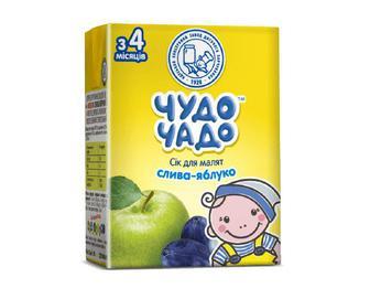 Сік для малят «Чудо-Чадо» слива-яблуко, 200мл