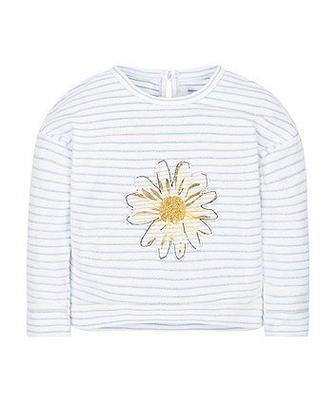 Смугастий светр з ромашками від Mothercare