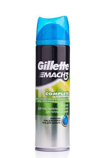 Гель для бритья Gillette Mach 3 мужской Чистая и чувствительная кожа, 200мл