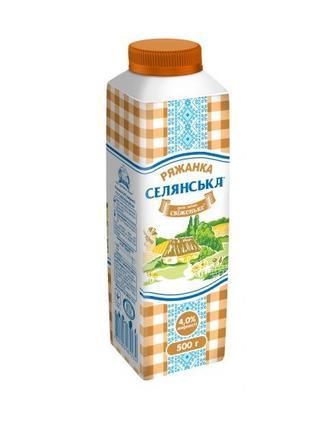 Ряжанка 4% Селянське 450г
