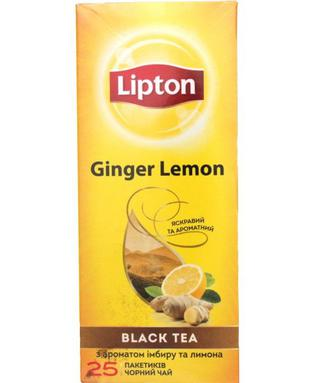 Чай Lipton Ginger Lemon чорний імбир-лимон 25шт