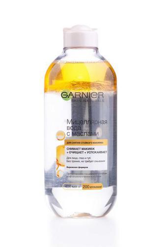 Мицеллярная вода для лица Garnier для снятия стойкого макияжа с маслами, 400мл