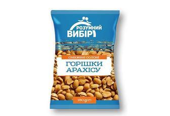 Горішки арахісу смажені солоні Розумний вибір 180 г
