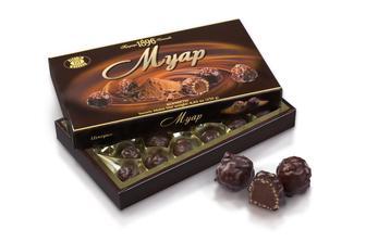 Конфеты шоколадные в коробке Муар ХБФ 250г