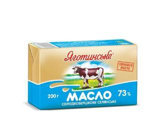 Масло Сливочное Яготинське селянское 73% 200г