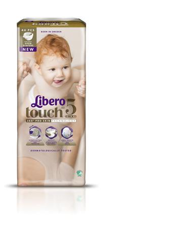 Підгузники Libero Touch 5 10-14кг, 44шт,уп