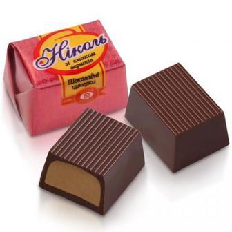 Цукерки зі смаком крем-брюле, Бісквіт Шоколад, 1кг