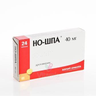 Но-шпа 40 мг таблетки №24