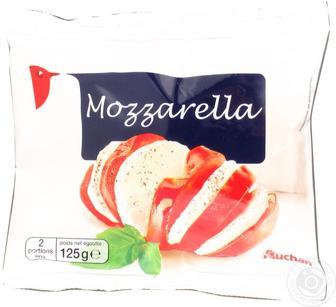 Акция ▷ Сыр Ашан Моцарелла мягкий 45% 3*125г