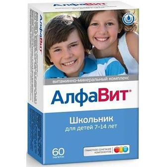 Алфавит Школьник таблетки №60, Аквион