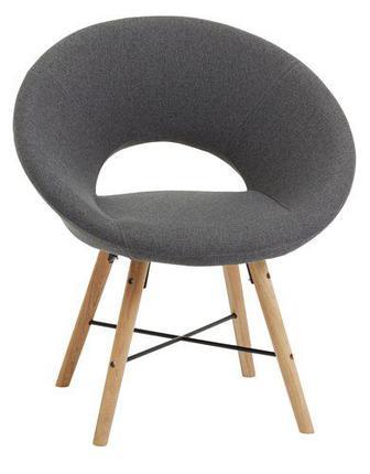 Крісло KAPPEL т.сірий/дуб