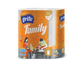 Рушники паперові Grite Family, 2рулони/уп