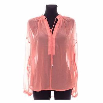 Блуза SELECTED  оранжевая/салатовая