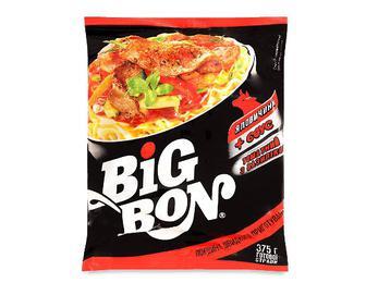 Локшина Big Bon яловичина + соус томатний з базиліком, 75г