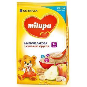 Каша Milupa молочная мультизлаковая со смесью фруктов (с 7 месяцев) 210 г