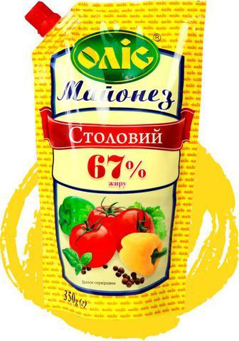 Майонез Столовий 67% Олис 350г