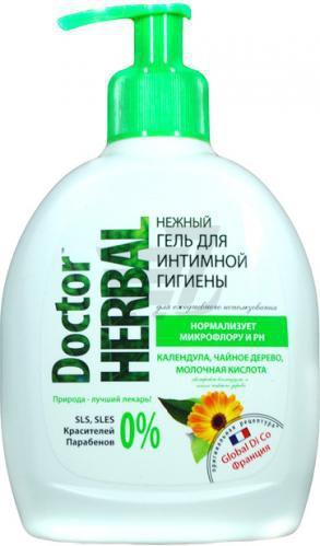 Гель для інтимної гігієни Doctor Herbal Нагідки,чайне дерево и молочна кислота 300 мл