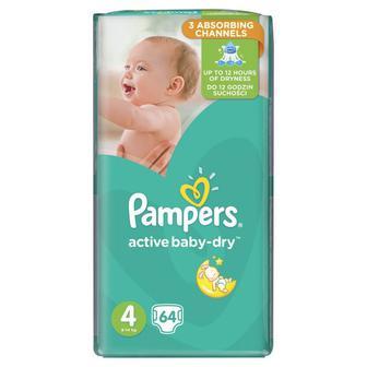 Скидка 27% ▷ Подгузники Pampers active baby-dry 54, 58, 62, 70, 82шт
