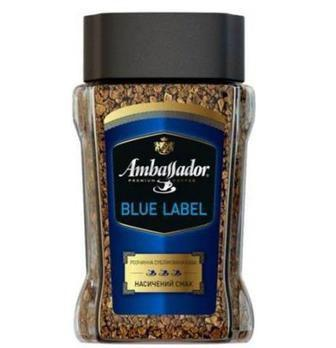 Кава  розчинна Blue label  Ambassador 95 г