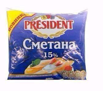 СМЕТАНА 15%, 350 г PRESIDENT
