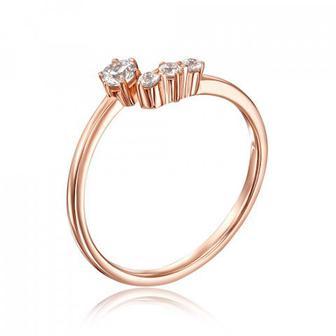 Скидка 51% ▷ Золотое кольцо с фианитами Swarovski. Артикул 13252/01/0/1775