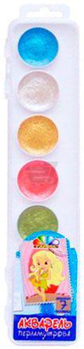 Фарби акварельні медові Хобі перламутрові 7 кольорів 312072 Гамма