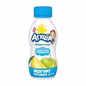 Йогурт «Агуша» дитячий малина, 2,7%, 200г
